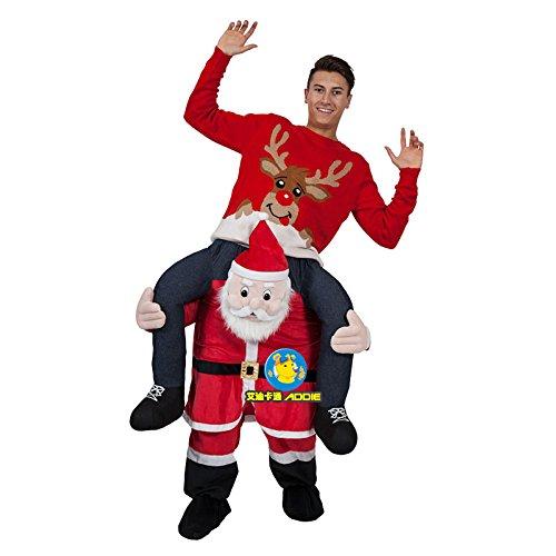 fanituhan クリスマス サンタ 肩車 サンタ 衣装セット 半身 着ぐるみ ズボン コスチューム 大人用 ハロウィン パーティー 学園祭り 忘年会