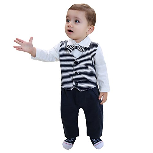 f83127d69fd ZOEREA 2pcs Baby Boys Gentlemen Romper + Coat Wedding Suits - Import It All