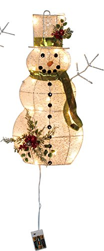 Outdoor Led Lighted Snowman - 2