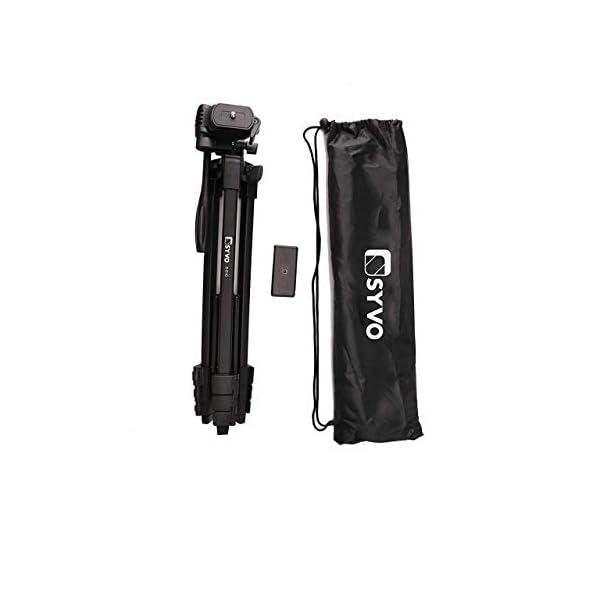 RetinaPix Syvo S-510 PRO (55-Inch) Aluminium Tripod, Universal Lightweight Tripod with Carry Bag for All Smart Phones, Gopro, Cameras (Black)