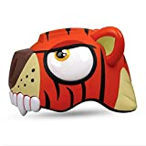 Red Tiger Design Bicycle Cycling Bike Helmets Protective Gear with Tail Warning Light for Toddler Child Children Kids,Ultra-light Outdoor Sports Kids Safety Helmet Hard Hat for Boy Girl Student Pupil Review