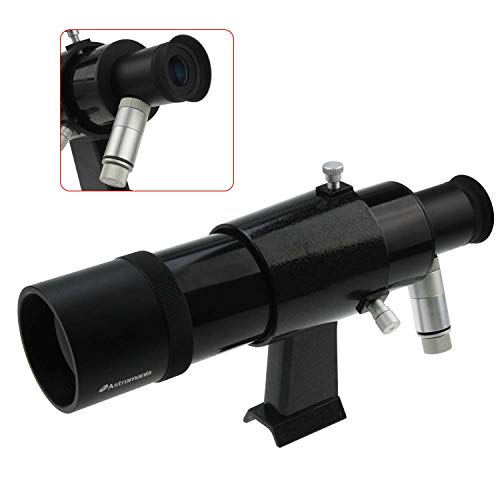 Astromania 9x50 Illuminated Finder Scope, Black - it Provides Both a Bright Image and Comfortable Viewing