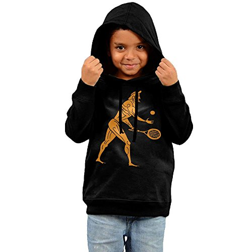 Xs Wu Boys Ancient Olympian Playing Tennis Funny Sports Casual Style 2 Toddler Black