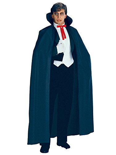 Rubie's Full Length Fabric Cape, Black, One Size -
