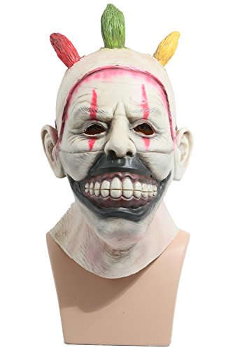 XCOSER Killer Clown Scary Mask Costume Props for Halloween (Killer Prop)