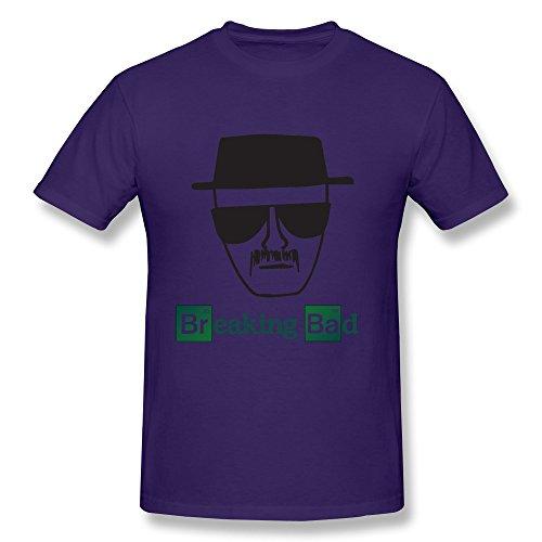 Price comparison product image KAITIAN Breaking Bad Heisenberg Men's Short Sleeve T-shirt Purple Size L