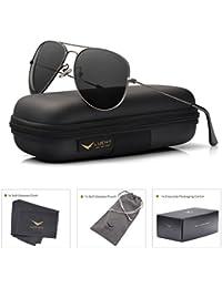 Men Aviator Sunglasses Polarized Women - UV 400 Protection with case 60MM