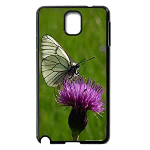 Samsung Galaxy Note 3 Cases, Scratch Resistant Black and White Butterfly 2 Cases for Samsung Galaxy Note 3 {Black}
