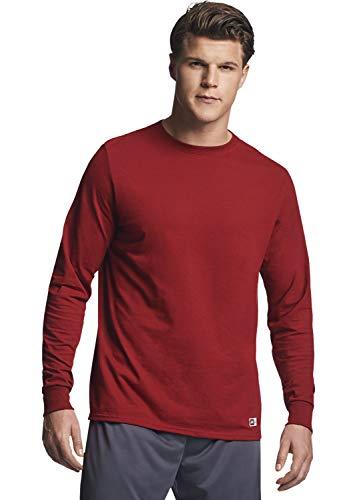 - Russell Athletic Men's Essential Long Sleeve Tee, Cardinal, XL