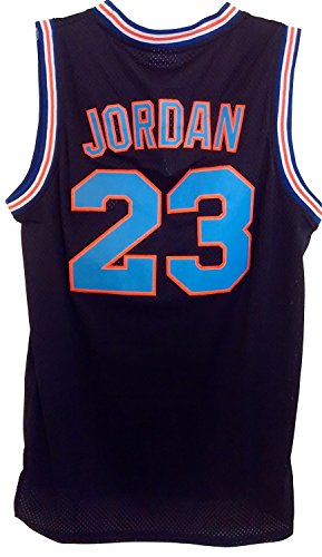 Price comparison product image 23 Men's Jordan Tune Squad Space Jam Classics Black Basketball Jersey Large