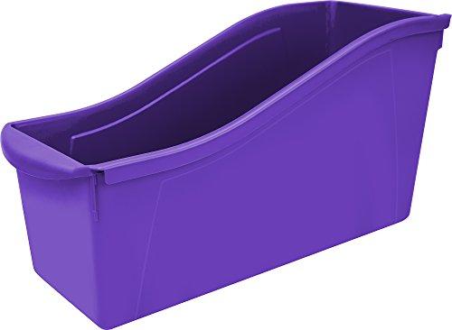 """Storex Large Book Bin, 14.3 x 5.3 x 7"""", Purple, Case of 6 (71103U06C)"""