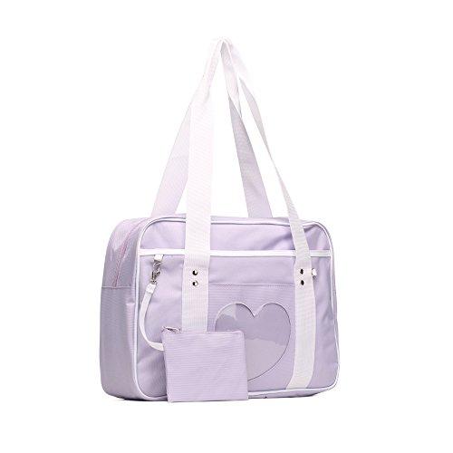 SteamedBun Ita Bag Heart Japanese Bag Girls Large Shoulder Purse Anime School Satchels for -