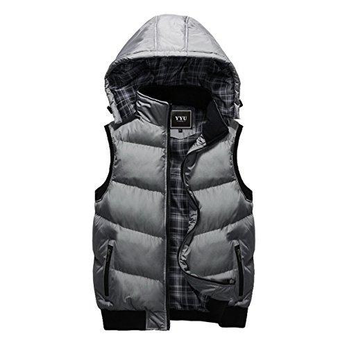 con cappuccio per Winter staccabile uomo maniche Giubbotto Jacket Ahatech Down senza 0Yw6qp7
