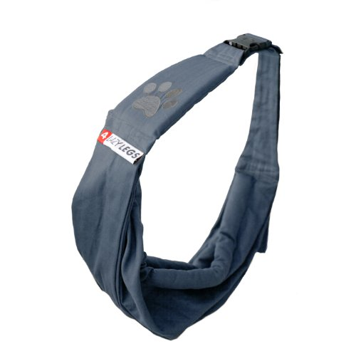 4-Lazy-Legs-Adjustable-Pet-Sling-Carrier-Carrier-for-Dog-Navy-Blue