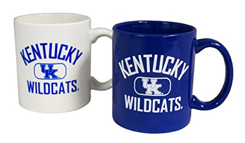 NCAA Kentucky Wildcats 11 oz Alternating Team Color Ceramic Coffee Mug 2pk