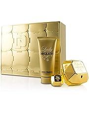 Paco Rabanne Lady Million Coffret: Eau De Parfum Spray 80ml + Eau De Parfum Splash 5ml + Sensual Body Lotion 100ml 3pcs