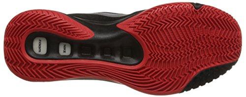 Nike Zoom Hyperquickness 2015 - Zapatillas de baloncesto, Hombre Negro / Plateado / Rojo (Black / Mtllc Silver-Unvrsty Rd)
