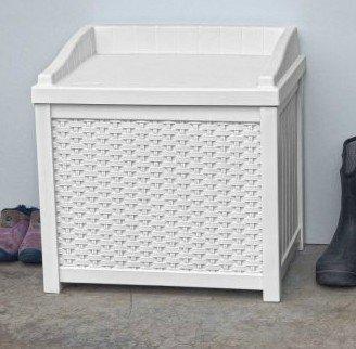 Deck Box Patio Storage 22 Gal, White