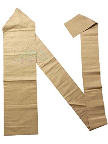アソシエイト文幻滅するリサイクル 名古屋帯 スズメに竹籠文様 正絹