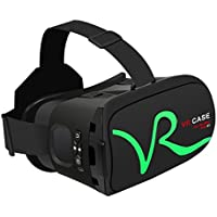 3D VR Headset Glasses, LESHP Virtual Reality Bluetooth Touch Button Control 3D VR Glasses for 3D Movies Video Games, Compatible with iPhone 7 and Other 4.0-6.5 Inch Smartphone (Green)