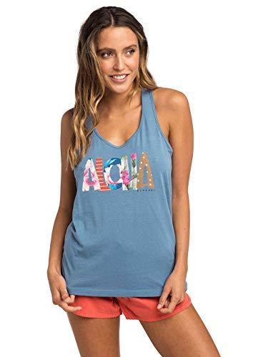 senza top Tee canotta Maniche Blue Curl Heaven top camicia Shirt Canotta Rip x18AqwgIA