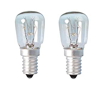 2 x lámpara de lava aparato horno nevera microondas 25 W SES (E14 ...
