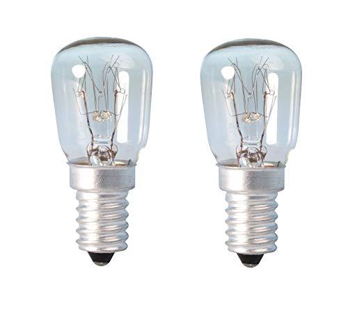 2 bombillas para lámparas de sal del Himalaya, para nevera, horno ...