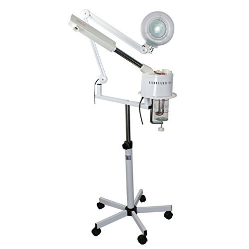 Zeny Professional Salon Spa Multi-Function Ozone Facial Steamer w/ 5 Diopter Magnification Lamp (YC708)