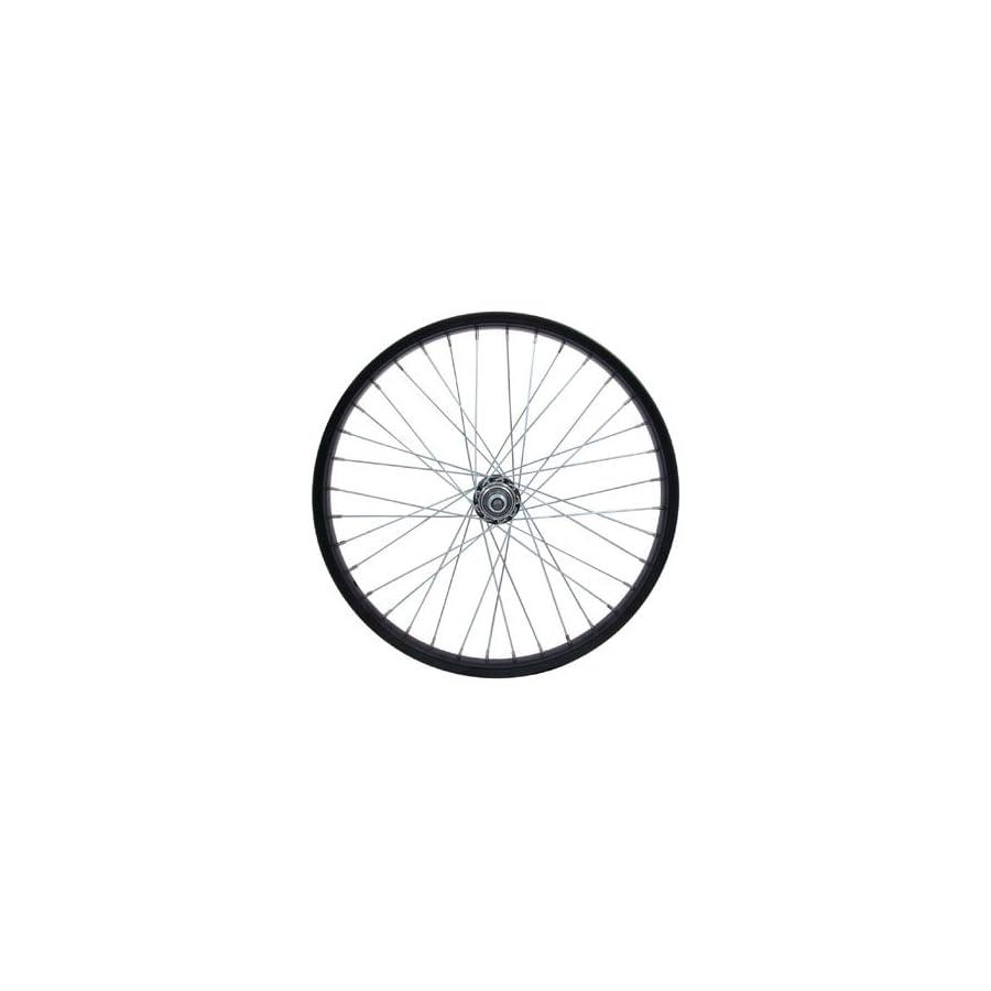 "Sta Tru RW2075BS Rear Steel/BMX Wheel with 3/8"" Axle, 20mm x 1.75"", Black"