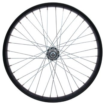 "Sta Tru RW2075BS Rear Steel/BMX Wheel with 3/8"" Axle , 20mm x 1.75"", Black"