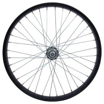 "Sta Tru RW2075BS Rear Steel/BMX Wheel with 3/8"" Axle , 20mm x 1.75"", Black"