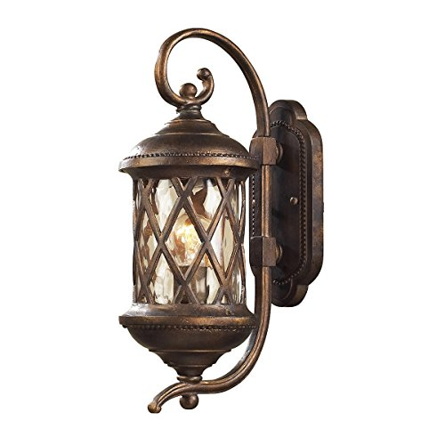 Gate Elk Barrington - ELK 42030/1, Barrington Gate Cast Aluminum Outdoor Wall Sconce Lighting, Hazelnut Bronze