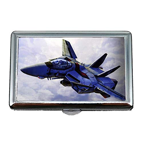 De Rue cartes boîte Visite Cosplay Militaire Inoxydable Porte En Gratuit Case30 Étui Stockage Photos Avion Combattant Acier Cigarettes wqH7IXvpXx