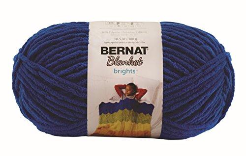 Bernat Blanket Brights Big Ball Yarn, 10.5 Ounce, Royal Blue, Single Ball (Bright Blue compare prices)