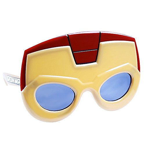 Sun-Staches Costume Sunglasses Marvel Lil Characters Iron Man Party Favors UV400