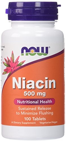 NOW Niacin 500 mg,100 Tablets