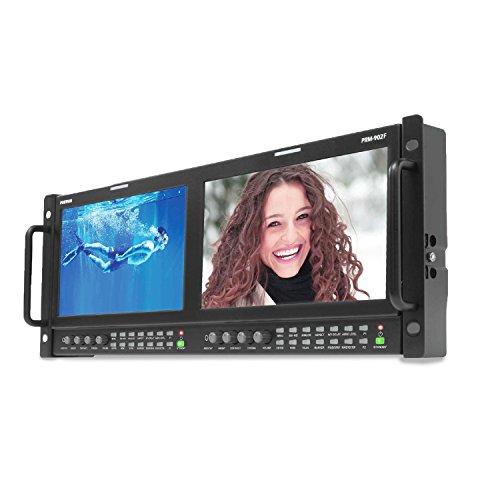 "Ikan Dual 9"" 3G/HD/SD-SDI & HDMI LCD Rackmount Monitors with PIP & HDMI-to-SDI (Postium) (PRM-902F)"