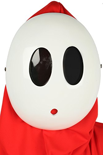 xcoser Shy Guy Mask Deluxe Kawaii White Resin
