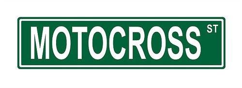 Motocross St. Street Sign 24x6 funny joke humor novelty metal aluminum sign