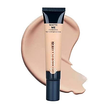 Under Eye Concealer and Highlighter Matte Creamy Liquid Foundation Face Primer Contouring Full Covering Smooth and Blendable Beauty Glazed