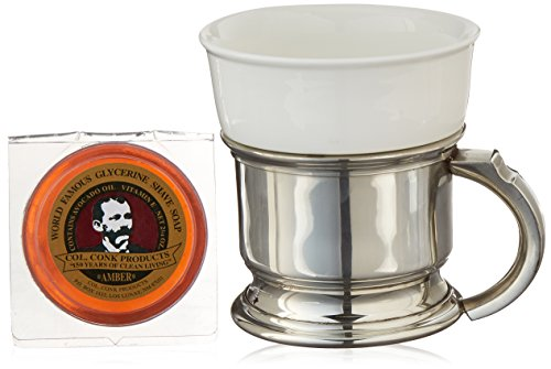 Colonel Conk Shaving Mug (Colonel Conk No.127 Shaving Mug with Pewter Caddy)