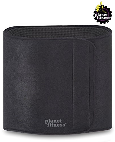 (Planet Fitness Deluxe Slimmer Belt Women Men (12 x 50) Lightweight Antimicrobial Abdominal Waist Trainer, Promotes Sweat Weight Loss)