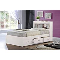 Hodedah HIBT60 Beds, Twin, White