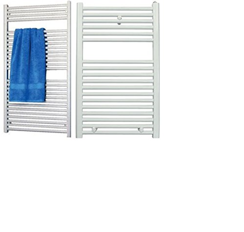"White Hydronic Towel Radiator 31.5"" x 19.7"" x 1.2"" With Accessories"
