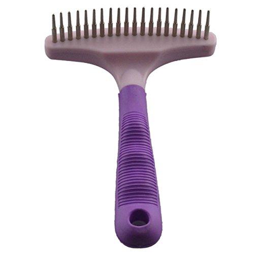 Dogloveit Purple Stainless Steel Undercoat Rake Dematting Comb For Dog by Dogloveit