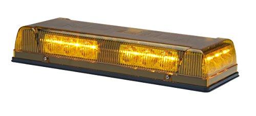 Whelen Engineering Responder LP Mini Lightbar - 12 Volt, Permanent Mount, Amber, Model# R1LPPA (Light Mini Bar Whelen)