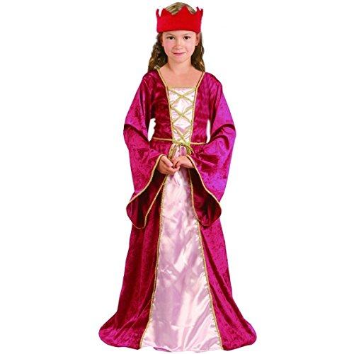 Disfraz de reina medieval para niña 10-12 años (140/152)
