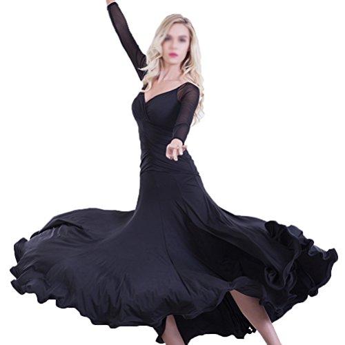 Moderna Moderna Da Valigetta Black Con Wqwlf L Sala Manica Ballo xxl Per Lunga Abiti Prestazione Donna 7qzU4H
