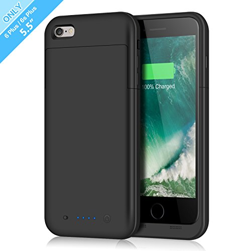 iPhone 6 Plus/6s Plus Battery Case,6800mAh Battery Pack Charger Case for 6 Plus Extended Portable Battery Charging Case for iPhone 6 Plus,6s Plus-Black by Fang