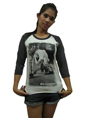 Bunny Brand Women's IGGY POP The Stooges Punk Rock Music Raglan T-Shirt